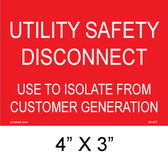 Utility Safety Disconnect use to Isolate from Customer Generation,  04-427