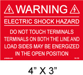 "Solar Warning Placard - 4"" x 3"" - PV Labels #04-100"