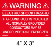 "Solar Warning Palcard - 4"" x  3"" - Item #04-101"