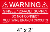 "Solar Warning Placard - 4"" x 2"" - Item #04-213"