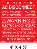 "Solar Warning Placard - 4"" x 4 1/2"" - Item #04-681"