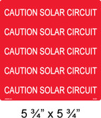 "PV Solar Warning Label - 5 3/4"" x 5 3/4"" - 3/8"" Letters - Item #03-529"