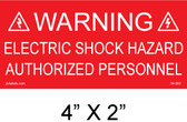 "Solar Warning Placard - 4"" x 2"" - Item #04-362"