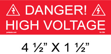 "Solar Warning Placard - 4 1/2"" x 1 1/2"" - Item #04-364"