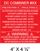 "Solar Warning Placard - 4"" x 4 1/4"" - Custom - Item #04-673"