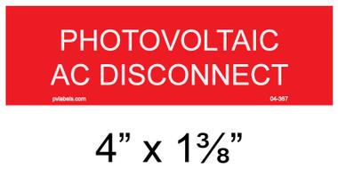 "Solar Warning Placard - 4"" x 1 1/4"" - Item #04-367"