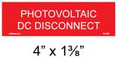 "Solar Warning Placard - 4"" x 1 1/4"" - Item #04-368"