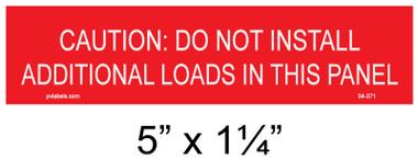 "Solar Warning Placard - 5"" x 1 1/4"" - Item #04-371"