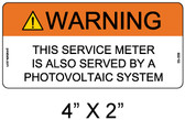 "Solar Warning Label - 4"" X 2"" - 3/16"" Letters - Item #05-359"