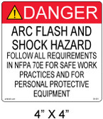 "Solar Warning Label - 4"" X 4"" - Item #05-361"