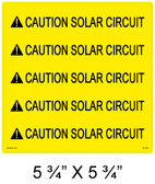 "Solar Warning Label - 5 3/4"" X 5 3/4"" - 3/8 Letters - Item # 05-329"