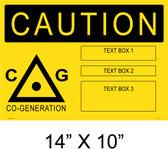 "Solar Warning Placard - 14"" x 10"" - Item #14-402"