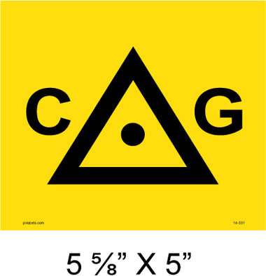"Solar Warning Placard - 5 5/8"" x 5"" - Item #14-551"