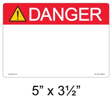 """Solar Warning Label - 5"""" x 3 1/2 - Custom Ansi - Item #05-501"""