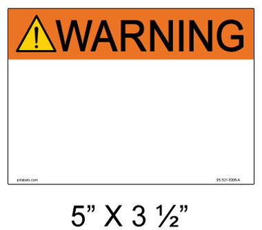"""Solar Warning Label - 5"""" x 3 1/2"""" - Custom - Item #05-521"""