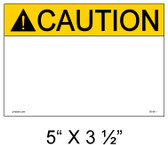 "Solar Warning Label - 5"" x 3 1/2"" - Custom - Item #05-541"