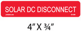 "PV Solar Warning Label - 4"" x 3/4"" - 1/4"" Letters - Item #03-389"