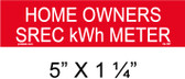 "Solar Warning Placard - 5"" x 1 1/4"" - Item #04-397"