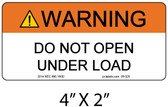 "Solar Warning Label - 4"" X 2"" - 1/4"" Letters - Item #05-325"