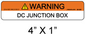 "PV Solar Warning Label - 1/4"" Letters - Item 05-332"