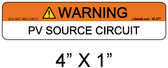 "PV Solar Warning Label - 1/4"" Letters - Item 05-377"