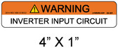 "PV Solar Warning Label - 1/4"" Letters - Item 05-381"