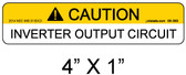 "PV Solar Warning Label - 1/4"" Letters - Item 05-383"