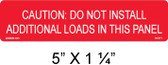 "Solar Warning Label - 5"" x 1 1/4"" - Item #03-371"