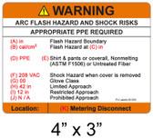 "Arc Flash Hazard Label - 4"" X 3"" - Item #05-550"