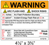 Warning - Arc Flash Hazard Label - Item #05-554