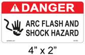 "Danger Arc Flash Label - 4"" X 2"" - Item #05-592"
