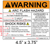 Warning - Arc Flash Hazard Label - Item #03-535