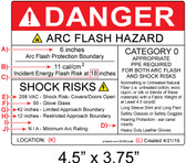 Danger - Arc Flash Hazard Label - Item #05-565