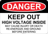 Danger High Voltage, #53-112 thru 70-112