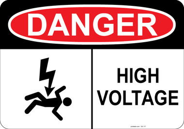 Danger Shocked Man, High Voltage  #53-117 thru 70-117
