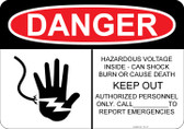 Danger Hazardous Voltage, Fed by two sources...#53-127 thru 70-127