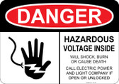 Danger Hazardous Voltage, Will Cause Burn, Shock or Death...#53-128 thru 70-128