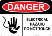 Danger - Electrical Hazard - Do Not Touch #53-133 thru 70-133