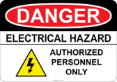 Danger - Electrical Hazard - Authorized Personnel Only  #53-136 thru 70-136
