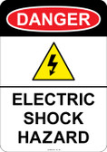 Danger (shock symbol) Electric Shock Hazard, #53-144 thru 70-144