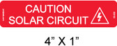"Caution Solar Circuit Label - 1/4"" Letters - Item #03-330"