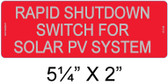 Rapid Shutdown Switch for Solar PV System - Reflective Aluminum - Item #07-316