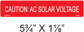Caution: AC Solar Voltage - Item #03-220