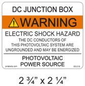 DC Junction Box Label - Item #05-218