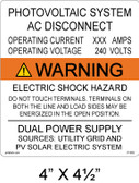 "Solar Warning Sign- 4"" x 4 1/2"" - Item #07-683"