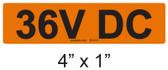 36V DC - PV Labels #30-012