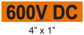 600V DC - PV Labels #30-030