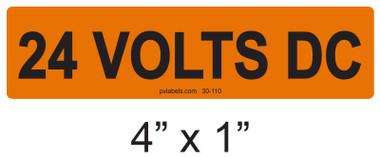 24 VOLTS DC - PV Labels #30-110