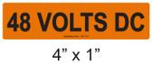 48 VOLTS DC - PV Labels #30-114