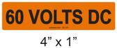 60 VOLTS DC - PV Labels #30-116